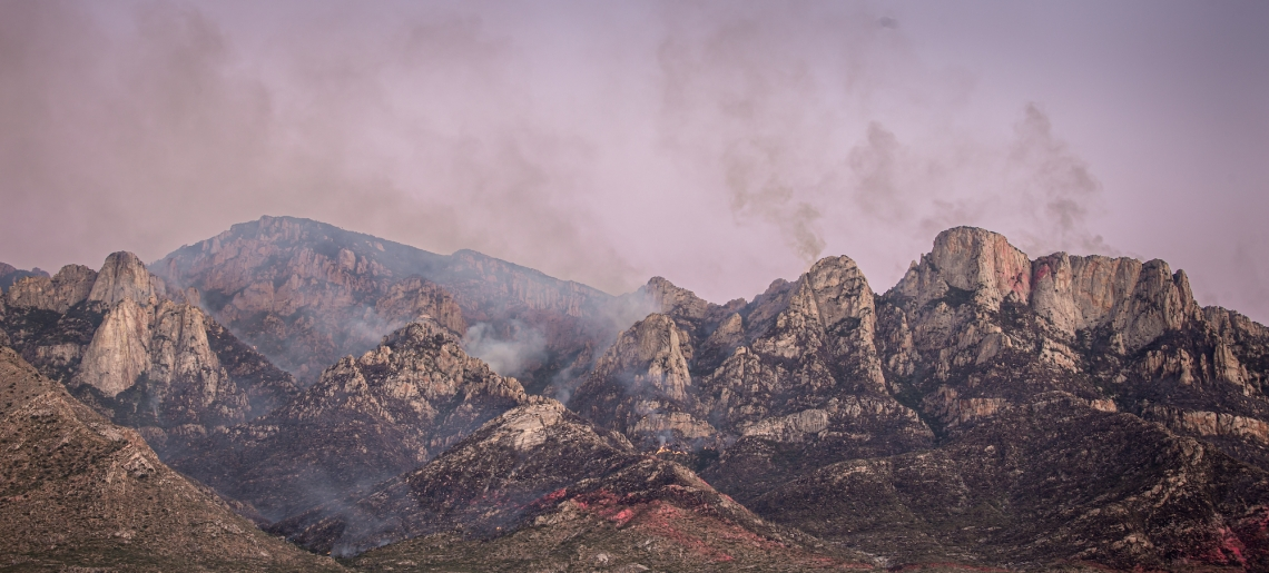 bighorn fire on pusch ridge